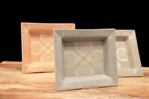 Platos-Ceniceros Porcelana Tonos Claros